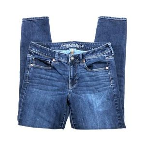 American Eagle Super Skinny Dark Blue Jeans 8